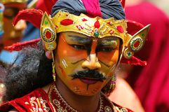Reog dancer in Indonesia Stock Images