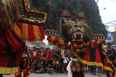 Reog player Royalty Free Stock Images