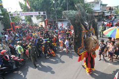 Reog, a traditional art from Ponorogo Stock Photography