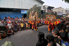Reog, a traditional art from Ponorogo Stock Photos