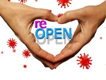 Free Reopen Open  After Coronavirus Covid-19 Hands Fingers Like Heart Royalty Free Stock Photography - 183477837