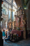 Reopened Interior of The Sts. Peter and Paul Church of the Jesuit Order in Lviv Royalty Free Stock Photo