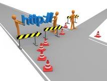 Reorientação do Web site Foto de Stock