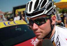 Repère Cavendish de cycliste Images stock