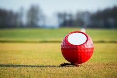 Repère coloré de bille de golf Photographie stock