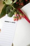 Repère d'amour des livres i Photos libres de droits