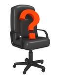 Repère d'une question dans un fauteuil Images libres de droits