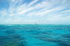 Repère de récif coralien dans l'océan Photos libres de droits
