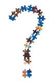 Repère des parties de puzzle Photos stock