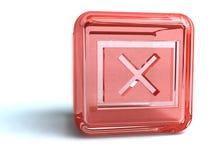 Repère rouge de x Photographie stock libre de droits