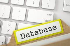 Repères d'archives de fichier avec la base de données 3d illustration libre de droits
