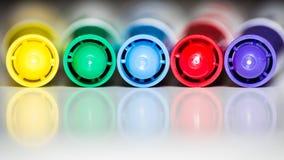 Repères de couleur Photos libres de droits