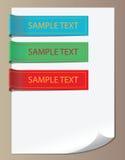 Repères de couleur, rubans Photos stock