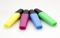 Repères de différentes couleurs Photo stock