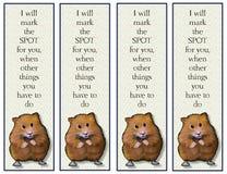 Repères de hamster avec le vers Images libres de droits