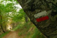 Repères de trekking Images libres de droits