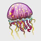 A repéré une méduse rose dans le style de bande dessinée Photo libre de droits