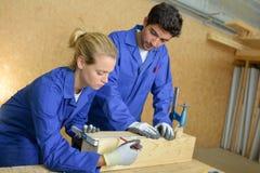 Repérage du bloc en bois image stock