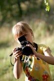 Repórter. foto de stock
