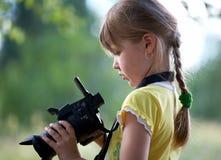 Repórter. Imagem de Stock