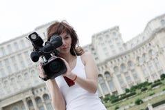 Repórter Fotos de Stock Royalty Free