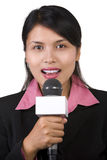 Repórter Foto de Stock Royalty Free