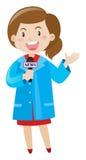 Repórter da notícia que veste a camisa azul Imagens de Stock