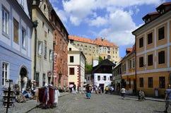 República Checa, Cesky Krumlov Fotos de Stock Royalty Free