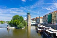 República Checa de Moldava Praga del río Imagenes de archivo