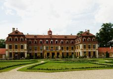 República Checa de Rajec nad Svitavou del castillo Foto de archivo