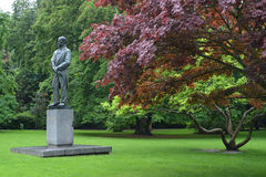 República checa Monumento ao compositor Antonin Dvorak em Karlo Imagem de Stock Royalty Free