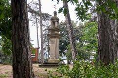 República Checa Parque zoológico de Praga Columna de la plaga 12 de junio de 2016 Imagen de archivo libre de regalías