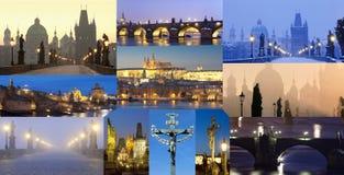 República Checa, Praga - Charles Bridge Images Composite Fotografía de archivo