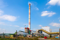 REPÚBLICA CHECA, PRUNEROV, O 24 DE JULHO DE 2015: Central elétrica Prunerov de carvão Fotos de Stock Royalty Free
