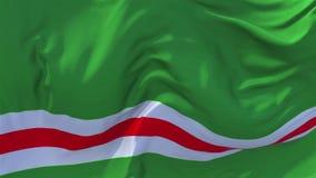 República chechena da bandeira de Ichkeria que acena o fundo sem emenda do laço