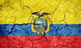 República da bandeira de Equador Fotografia de Stock