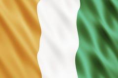 República da bandeira do dIvoire da costa Imagens de Stock