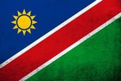 A república da bandeira nacional de Namíbia Fundo do Grunge foto de stock