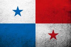 A república da bandeira nacional de Panamá Fundo do Grunge ilustração royalty free