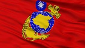 A República da China Marine Corps Flag Closeup View ilustração stock