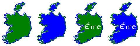 A República da Irlanda sem esboço britânico do mapa da parte nortenha ilustração royalty free