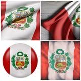 República da ondulação da bandeira do Peru Fotos de Stock Royalty Free
