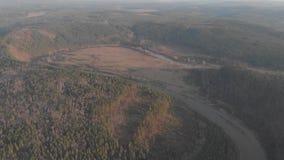 República de Bashkortostan, ríos, cueva de Idrisovskaya del otoño moderno metrajes