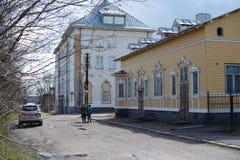 República de la ciudad de Sortavala del norte ruso de Karelia fotos de archivo libres de regalías