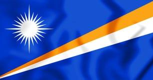 República de Marshall Islands Flag ilustración 3D Imágenes de archivo libres de regalías