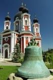 República de Moldova, monastério de Curchi, Bell antiga Imagem de Stock