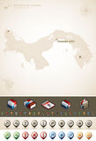República de Panamá Imagen de archivo