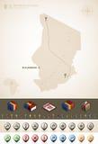 República de República eo Tchad Fotografía de archivo libre de regalías