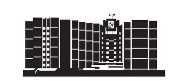 República del edificio de la silueta Fotografía de archivo libre de regalías