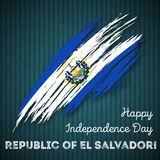 República del EL Salvador Independence Day Imagen de archivo libre de regalías